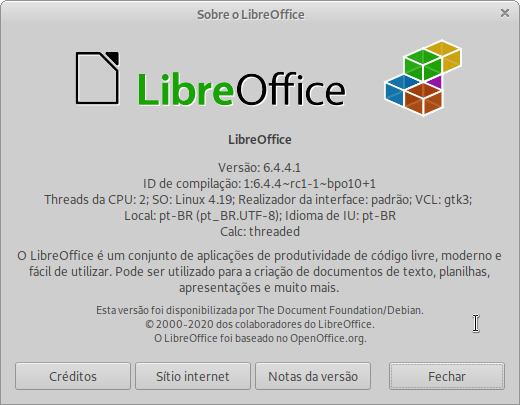 LibreOffice buster-backports